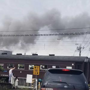 蒸気機関車の煙