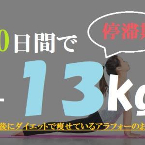 停滞期【61-70日目マイナス13キロ】100日後に細身になっているアラフォー無職のおっさん!30代40代の痩せ方