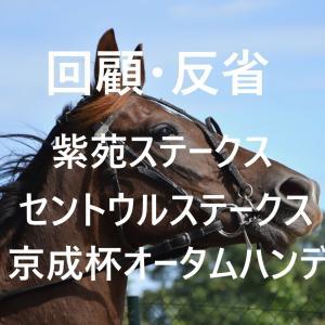 紫苑ステークス・セントウルステークス・京成杯オータムハンデ 回顧・反省