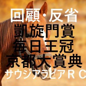 凱旋門賞・毎日王冠・京都大賞典・サウジアラビアRC 回顧・反省