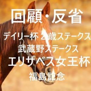 デイリー杯2歳ステークス・武蔵野ステークス・エリザベス女王杯・福島記念 回顧・反省