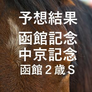 第56回函館記念(GⅢ)第68回中京記念(GⅢ)第52回函館2歳ステークス(GⅢ)予想結果・回顧・反省