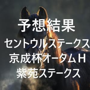 第34回セントウルステークス(GⅡ)第65回京成杯オータムハンデキャップ(GⅢ)第5回紫苑ステークス(GⅢ)予想結果・回顧・反省