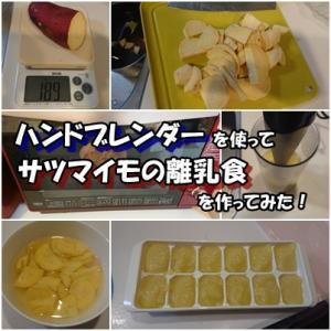 ハンドブレンダーを使ってサツマイモの離乳食を作ってみた