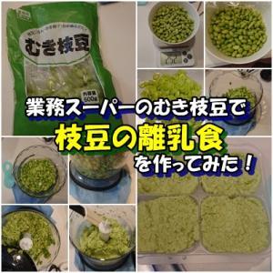 業務スーパーのむき枝豆を使って「枝豆の離乳食」を作ってみた