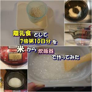 離乳食として7倍粥10日分を米から炊飯器で作ってみた