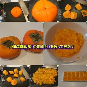 柿の離乳食(中期向け)を作ってみた