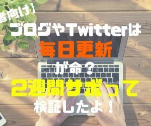 【初心者向け】ブログやTwitterは毎日更新が命?2週間サボって検証したよ!
