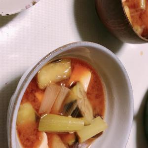 スープ→味噌汁に変更になった。