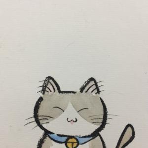 猫可愛く描けました。何を描くか考え中。
