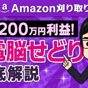 【最も稼げる電脳せどり】Amazon刈り取りを徹底解説!一撃200万円利益!