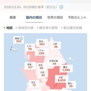【韓国新コロ】本日の新感染者数とニュース志村けんさん・・・