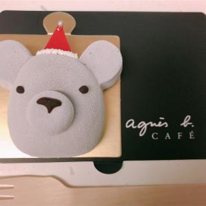 今年のクリスマスケーキはagnès b. CAFÉ@市政府駅