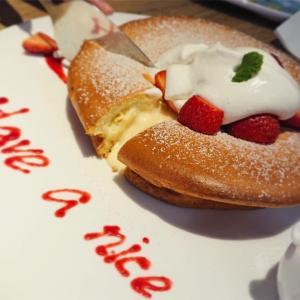 「petit doux cafe」でフルーツティーとパンケーキ@東門