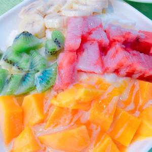 冰讚のマンゴーかき氷!@圓山駅