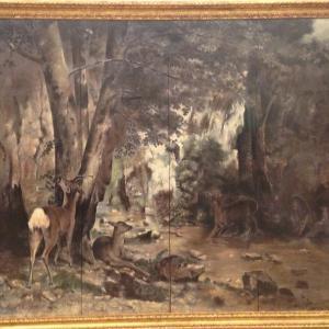 鹿の隠れ場 ギュスターヴ・クールベ