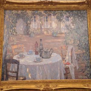 日の当たるテーブル アンリ・ル・シダネル