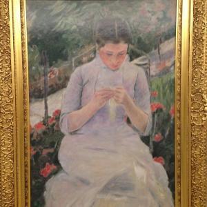 庭の若い女 メアリー・カサット