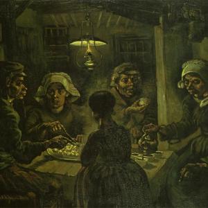 馬鈴薯を食べる人たち(食卓についた5人の農民) ファン・ゴッホ