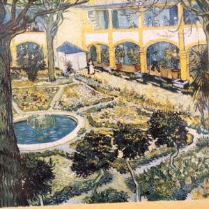 アルルの病院の庭 ファン・ゴッホ