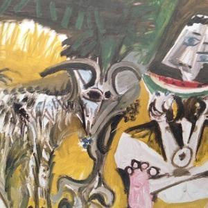 すいかを食べる男と山羊 パブロ・ピカソ