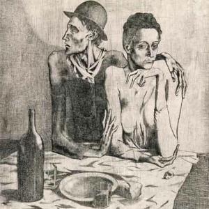 質素な食卓 パブロ・ピカソ