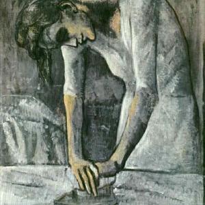 アイロンをかける女性 パブロ・ピカソ