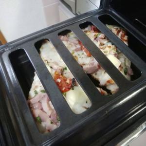 魚焼きグリルでピザを焼こう!コンロのグリルは魚だけじゃもったいないよ!なんでも焼けちゃうんだからー!