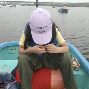 親子で釣る江戸川放水路2021年7月!ボートハゼはやっぱりタナが重要。ボートの位置をきちんと確認!