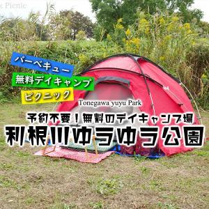 予約不要の無料デイキャンプ場でピクニック!『デイキャンプ広場』 / 利根川ゆうゆう公園 @千葉