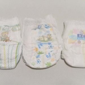 赤ちゃんのおしっこ漏れに悩んだら。漏れが酷くなったので、夜用の紙オムツを変更しました