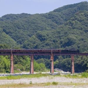猛暑の親鼻鉄橋