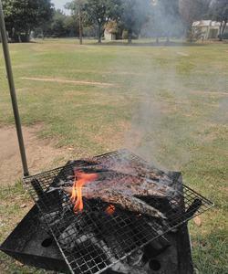 アジが釣れないので、サンマを焼いた!