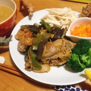 □鶏肉のポン酢焼き□ブロッコリーの胡麻和え□大根サラダの献立