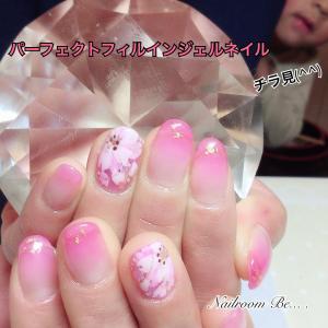 入学式に、桜ネイル♪【パーフェクトフィルイン仕上げ】
