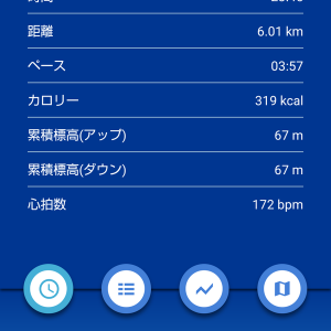 6kmLT走/フルマラソン後の休息