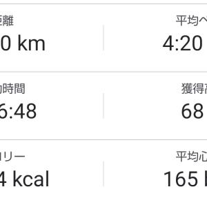 20kmペース走/博多出張Jog