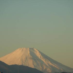 寒い快晴の富士山