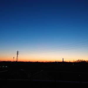昨日よりさらに早い日の出