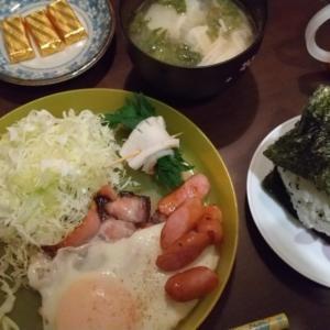 テスト日の朝は和食のきまり。
