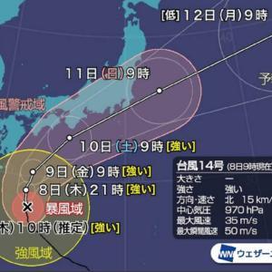 台風接近に思う。