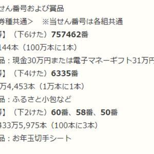 年賀はがき当選番号~2021~