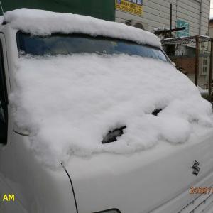 また積雪です。