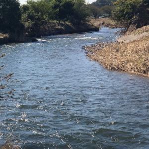 川沿いから滝の城址公園へ