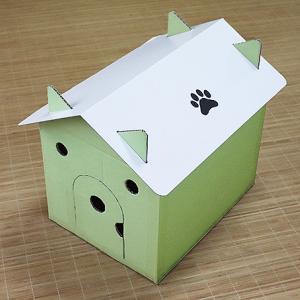 猫ハウスをダンボールで作ろう!