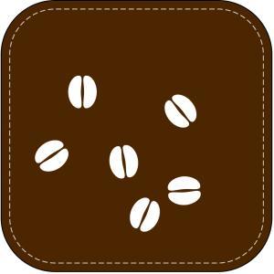 コーヒー豆のコースター