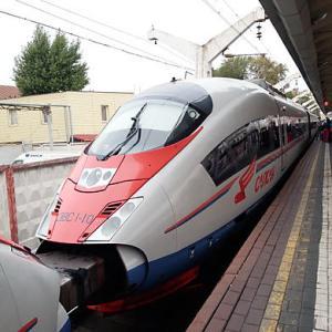 ロシアが誇る高速特急列車サプサン1等車、モスクワ‐サンクトペテルブルグの旅