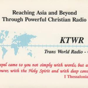 2019年11月7日 KTWR DRM 受信のQSL