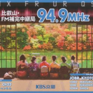2020年10月8日 JOBR KBS京都放送受信のQSLカード