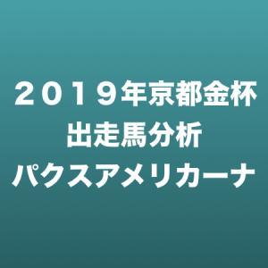 [2019年京都金杯出走馬分析] パクスアメリカーナ